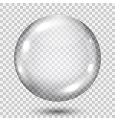 Big transparent gray sphere vector