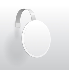 Blank Wobbler with Transparent Strip vector image