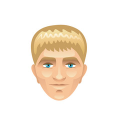 blond man face isolated on white vector image