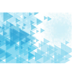 blue triangle shape abstract background vector image