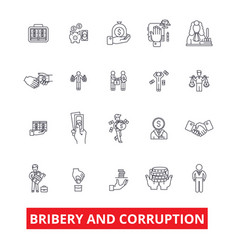 Bribery corruption anti-bribery law fraud vector