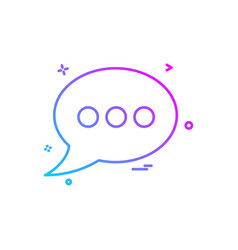 bubble chat sms text icon design vector image
