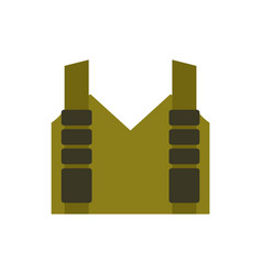 Bulletproof vest isolated protective uniform vector