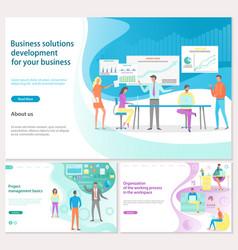Business solution development for business vector