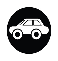 car symbol icon vector image