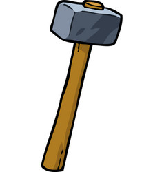 Cartoon doodle sledgehammer vector
