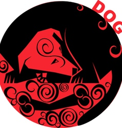 Chinese Horoscope dog vector image