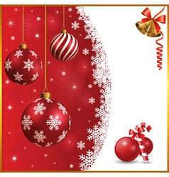 Christmas and snow background vector image