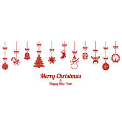 christmas ornaments christmas hanging decoration vector image