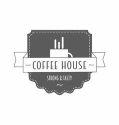 Coffee house - strong and tasty - logo vector image
