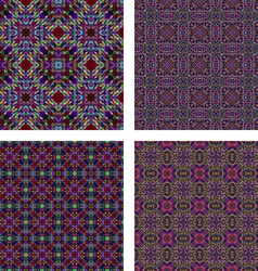 Colorful seamless mosaic glass set vector