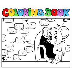 Coloring book with mouse 3 vector