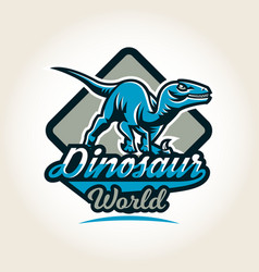 Colourful emblem logo label the world vector