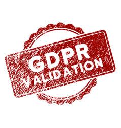 Distress textured gdpr validation stamp seal vector