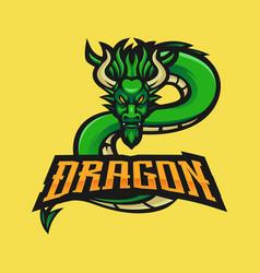 Dragon mascot logo vector