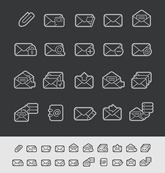 E-mail Icons Black Background vector