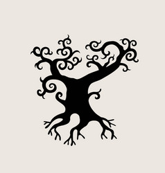 exotic tree vector image