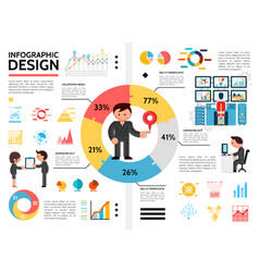 flat infographic elements concept vector image