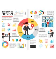 Flat infographic elements concept vector