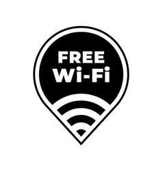 free wifi zone icon public free wi-fi wlan vector image