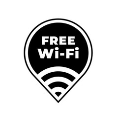 free wifi zone icon public wi-fi wlan vector image