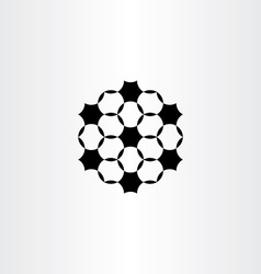 geometric circles black icon design element vector image