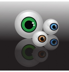 Glass eyeballs vector