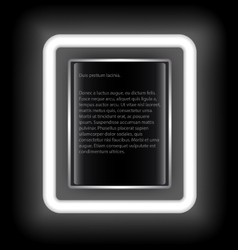 Glowing rectangular frame with space for text on a vector image