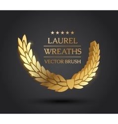 Gold silver bronze laurel wreath vector image