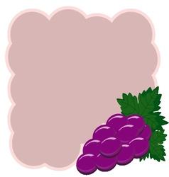 Grapes background decorative grapes border vector