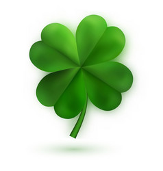 Green four leaf clovers irish lucky and success vector