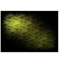 Green Vintage Wallpaper with Tree Rings vector image