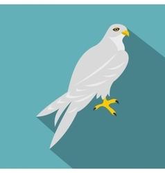 Hawk icon flat style vector