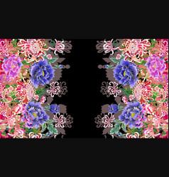 Hologram three-dimensional image peonies vector