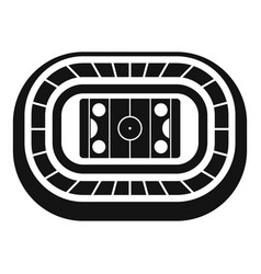 Ice hockey arena icon simple style vector