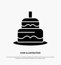 Indian cake day country solid glyph icon vector