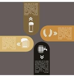 infographics beer design vector image