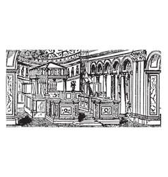 interior of st clemente roman architecture vector image