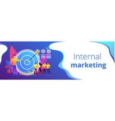 Internal marketing concept banner header vector