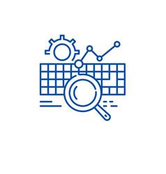 keywording line icon concept keywording flat vector image