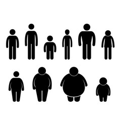 Man body figure size icon symbol sign pictogram a vector