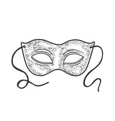 Masquerade carnival mask sketch vector