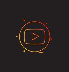 Media network social youtube vector