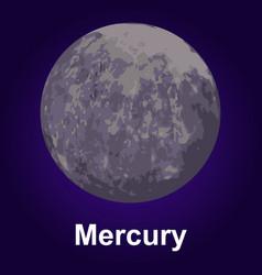 Mercury icon isometric style vector