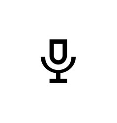 microphone icon symbol sign vector image