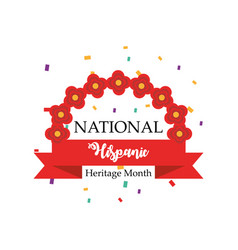 National hispanic heritage month with flowers arch vector