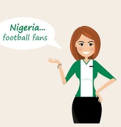 nigeria football fanscheerful soccer fans sports vector image
