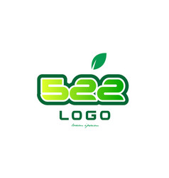 Number 522 numeral digit logo icon design vector