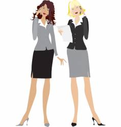Office girls vector