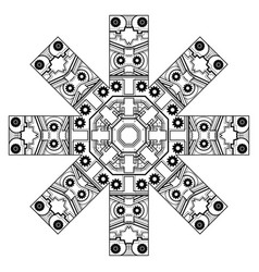 Ornament with gears vector